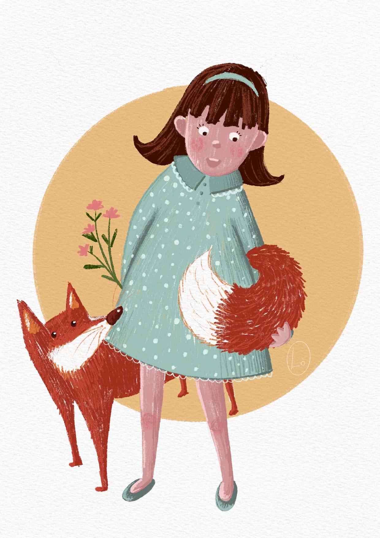 Bambina e volpe